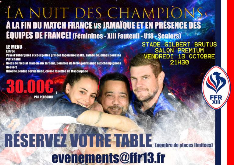 La Nuit des Champions: Inscrivez-vous!