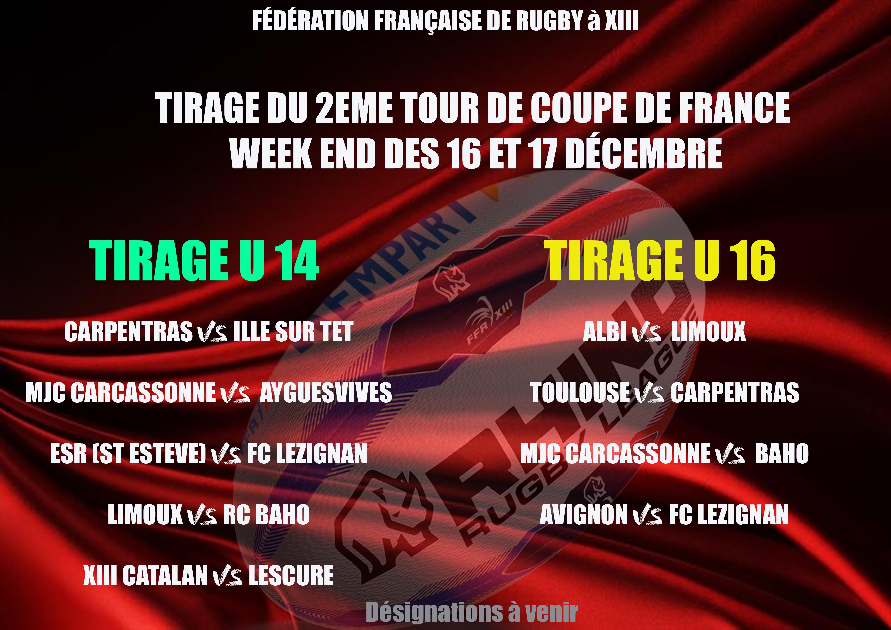 Tirage du 2 me tour de coupe de france u14 et u16 - Tirage eme tour coupe de france ...