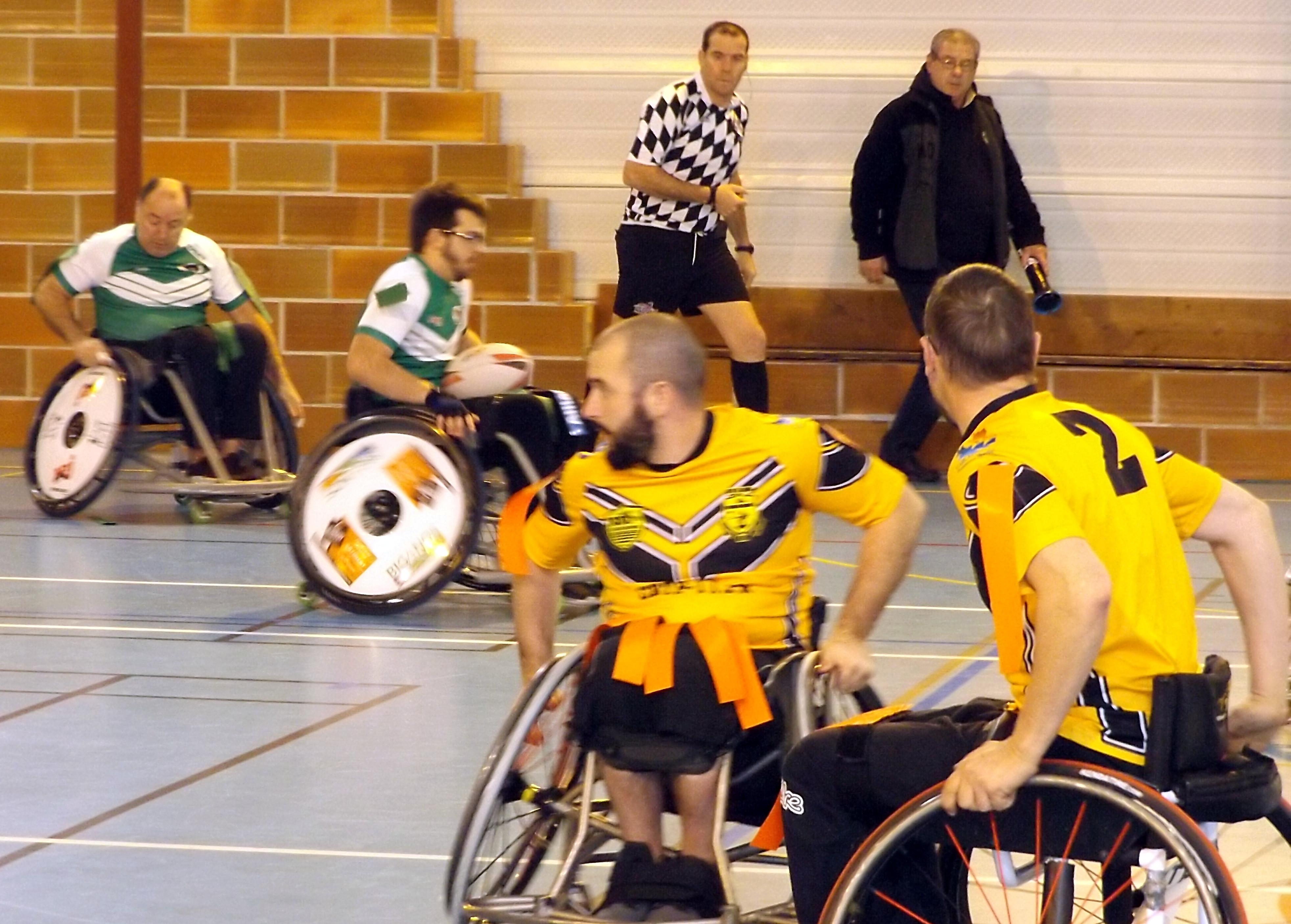 Rugby Xiii Fauteuil Aigles De Biganos Vs Chevaliers Cathares De