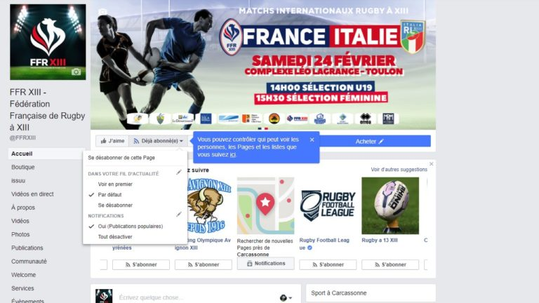 Comment suivre les actualités FFRXIII (et les autres) sur Facebook après le nouvel algorithme déployé?