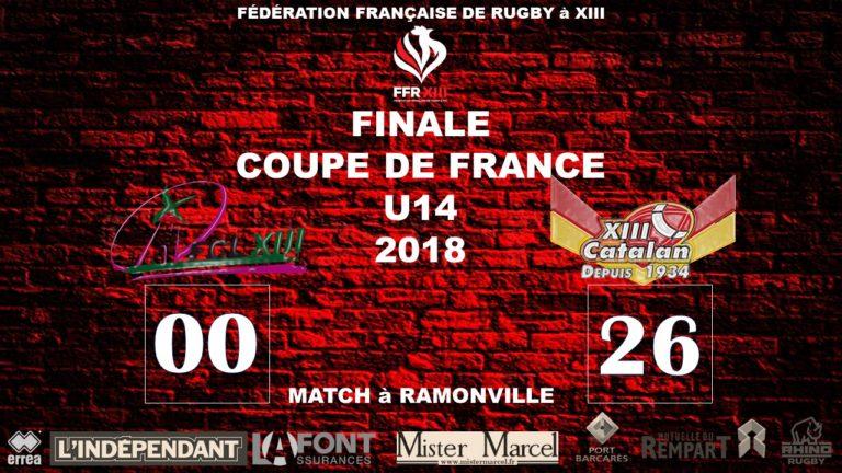 Finale Coupe de France U14 – 2018 – XIII Catalan Vainqueur!