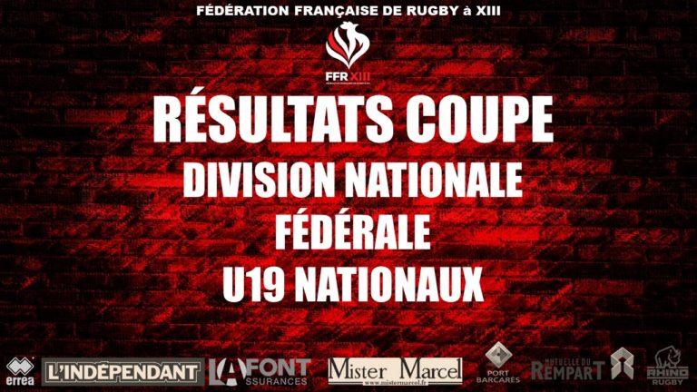 Coupes de France Division Nationale (Paul Déjean), Fédérale (Albert Falcou) et U19 Nationaux (Tarbouriech)