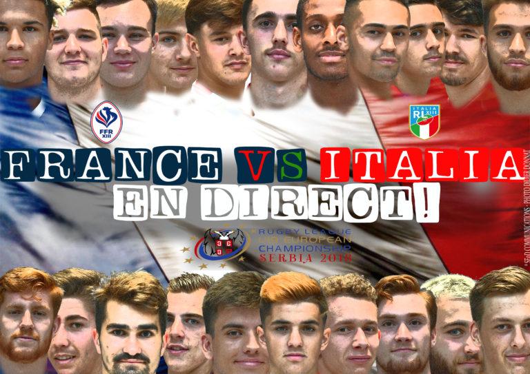 SERBIA 2018: FRANCE vs ITALIA en direct à 18H00!