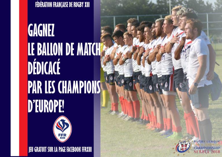 Gagnez le ballon de match dédicacé par les Champions d'Europe U19!