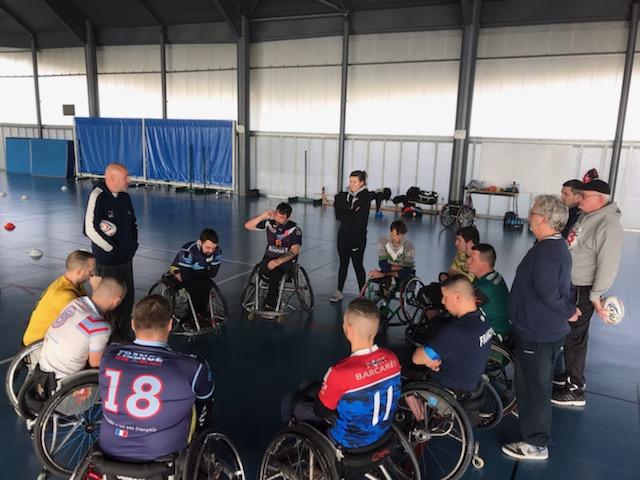 2ème stage de détection sélection de l'équipe de France de Rugby XIII Fauteuil