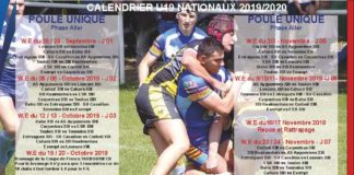 Calendrier 2020 Rugby.Calendrier 2019 2020 Federation Francaise De Rugby A Xiii