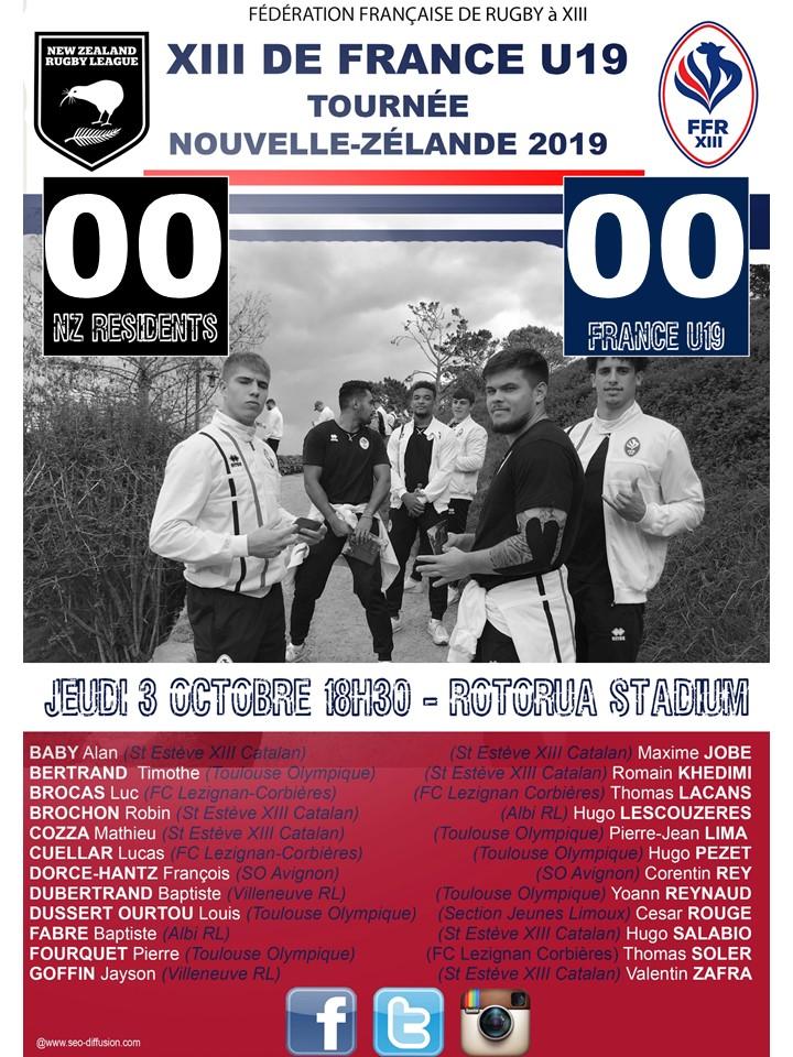 Le match des Bleus U19 en direct demain jeudi 3 octobre!