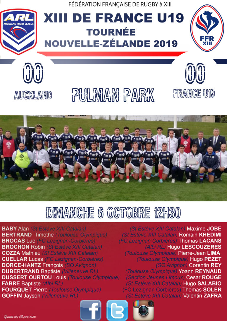 France U19 vs Auckland en direct!