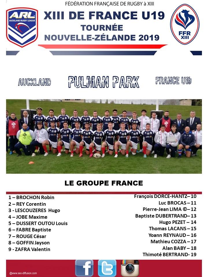 U19 XIII de France: Le groupe dévoilé!