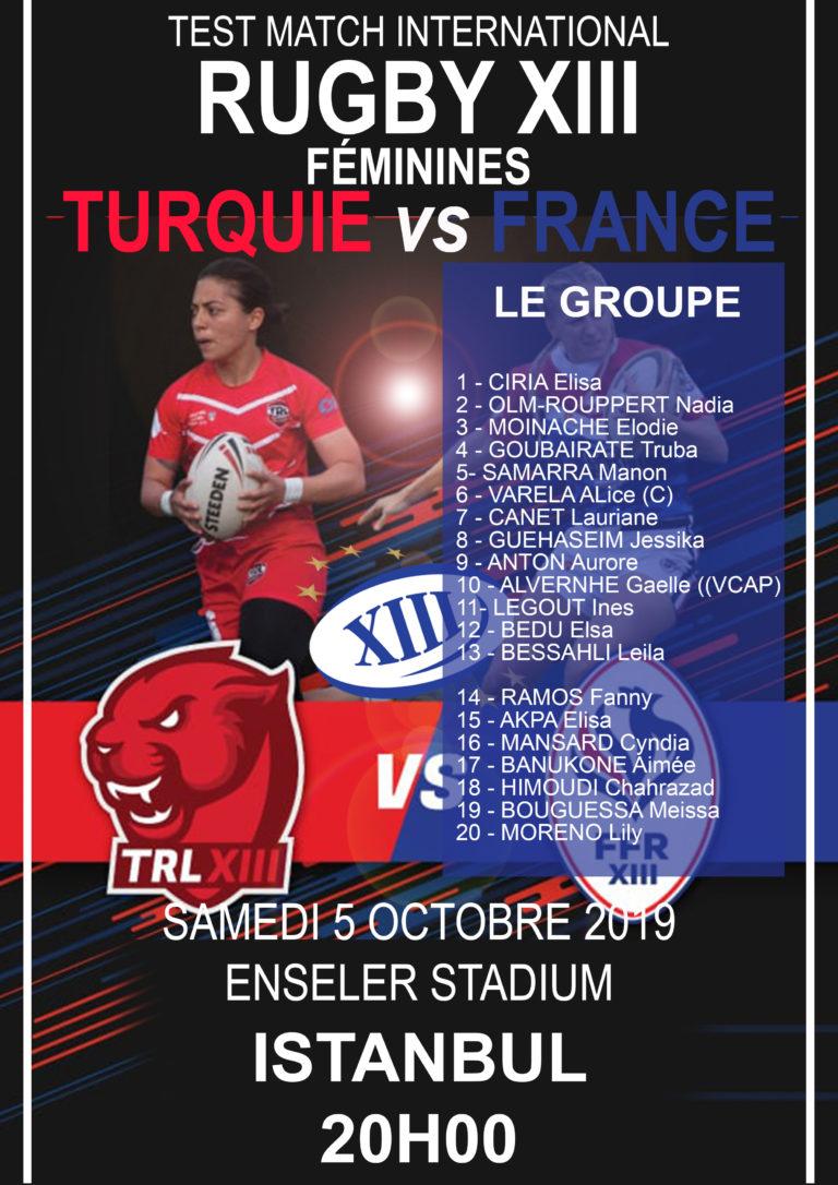 Turquie vs France (Féminines) – le groupe dévoilé!