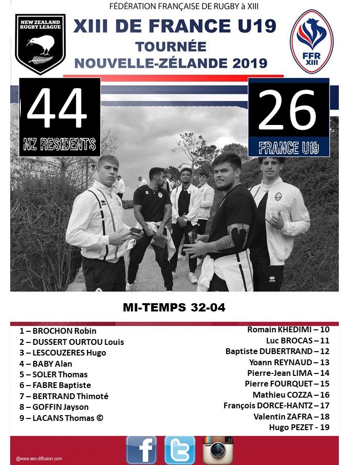 XIII de France U19, persévérance et courage!