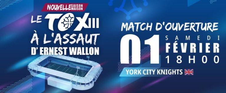 Le Toulouse Olympique XIII vous attend à Ernest Wallon ce samedi 1er février !